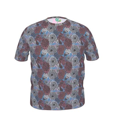 Mens Cut And Sew T - Shirt  size 3XX shown   Anemone    Cappuccino