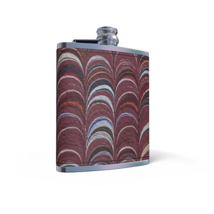 Leather Wrapped Hip Flask - Around Ex Libris Remix (1800 -1950)