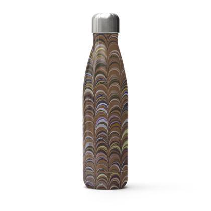 Stainless Steel Thermal Bottle - Around Ex Libris Brown Remix (1800 -1950)