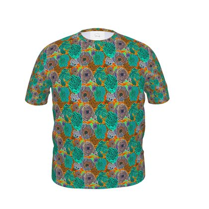 Mens Cut And Sew T- Shirt  SIZE XL Shown   Anenome    Chestnuts