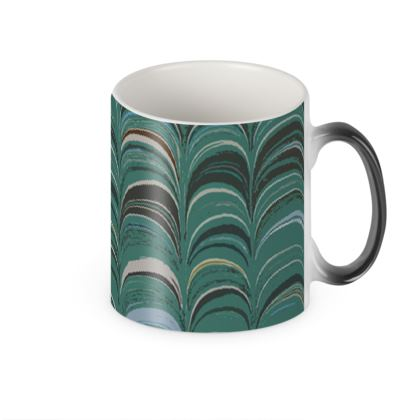 Heat Changing Mug - Around Ex Libris Jade Remix (1800 -1950)