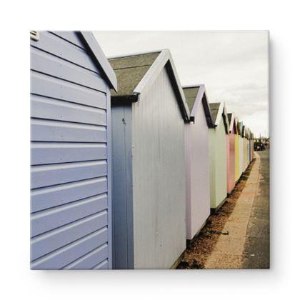 Square Canvas - Beach Huts