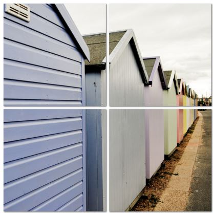 Multi Panel Split - Beach Huts