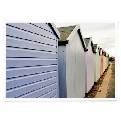 Paper Posters - Beach Huts