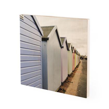 Wood Prints - Beach Huts