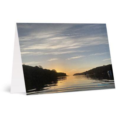 Sunrise on the helford Greetings Card