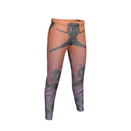 Womens Jogging Bottoms - Burnt Sunset Yoga Poses