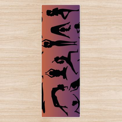 Yoga Mat - Burnt Sunset Yoga Poses
