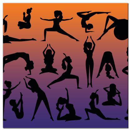 Playmat - Burnt Sunset Yoga Poses