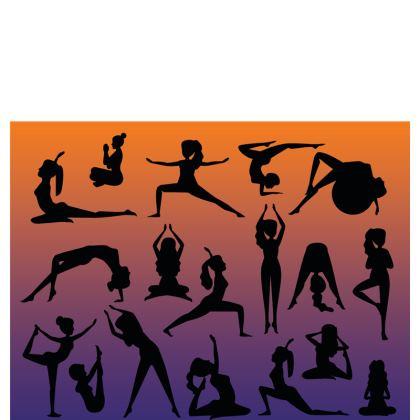 Table Runner - Burnt Sunset Yoga Poses