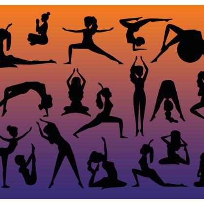 Tablecloth - Burnt Sunset Yoga Poses