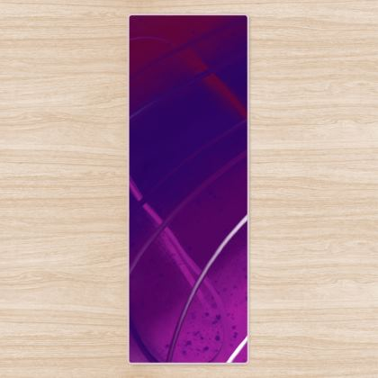 Yoga Mat in Violet Abstract