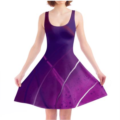Skate Dress in Violet Abstract
