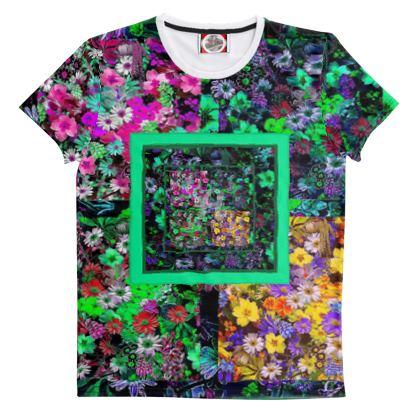 Maglietta floreale in cotone linea Il fiorame