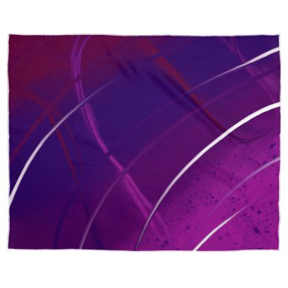 Scarf Wrap or Shawl in Violet Abstract