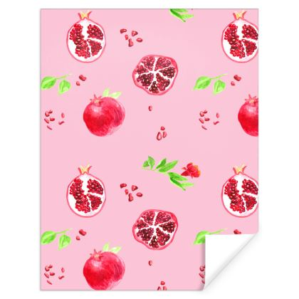 Fruity Pink Pomegranate Gift Wrap