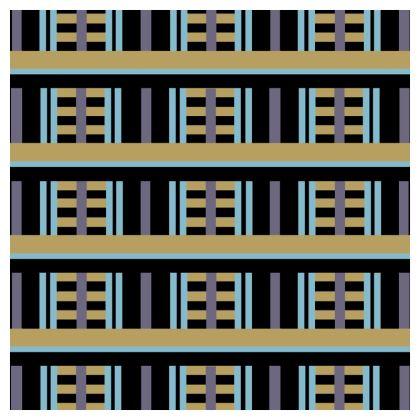 Art Deco Block Pattern Cushion
