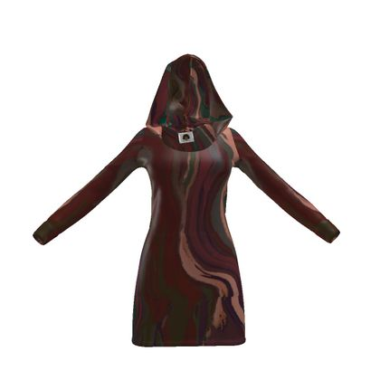 Hoody Dress - Colours of Saturn Marble Pattern 1