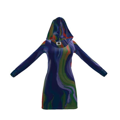 Hoody Dress - Colours of Saturn Marble Pattern 4