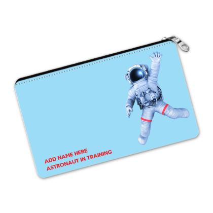 Astronaut in Training Back to School Blue Pencil Case