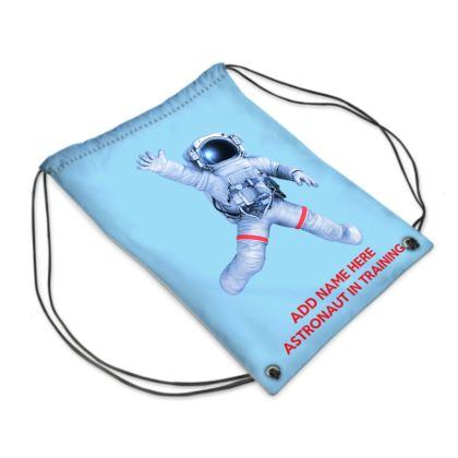 Astronaut In Training Back to School Blue Sport PE Swim Bag