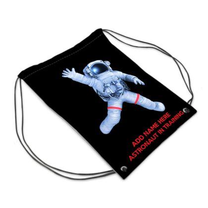 Astronaut in Training Back to School Black Sport Swim Bag
