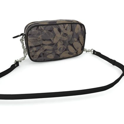 Night Forest Black Leather Camera Bag