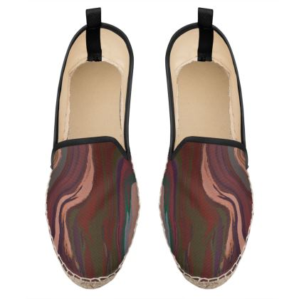 Loafer Espadrilles - Colours of Saturn Marble Pattern 1