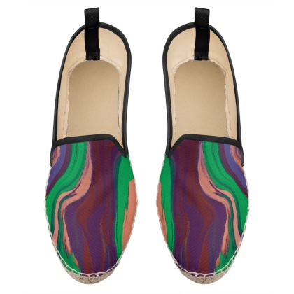 Loafer Espadrilles - Colours of Saturn Marble Pattern 2