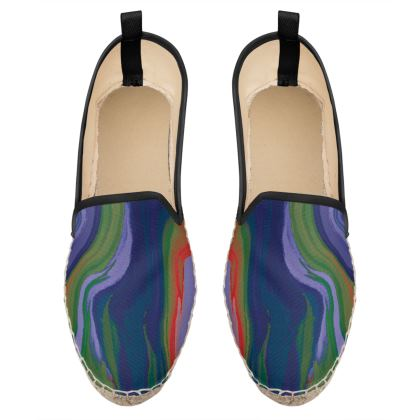 Loafer Espadrilles - Colours of Saturn Marble Pattern 4