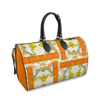 Roads Of Barcelona - Orange - Duffle Bag