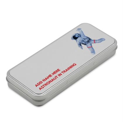 Astronaut in Training Back to School Pencil Case Tin Box
