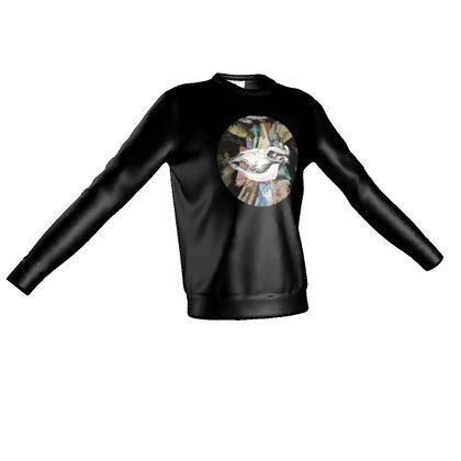 Sweatshirt - Cow Skull on Colourful Background