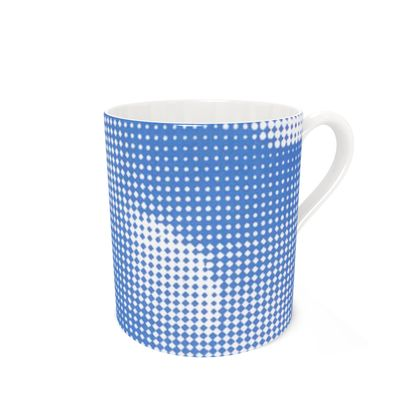 Bone China Mug - Endleaves of Art. Taste. Beauty (1932) Blue Remix