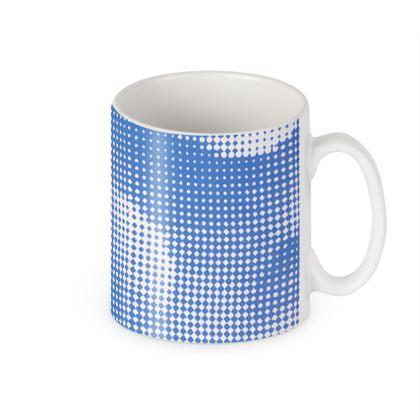 Builders Mugs - Endleaves of Art. Taste. Beauty (1932) Blue Remix
