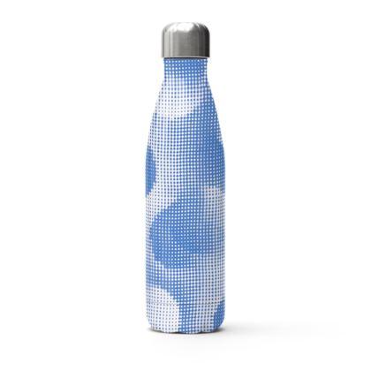 Stainless Steel Thermal Bottle - Endleaves of Art. Taste. Beauty (1932) Blue Remix