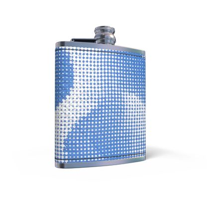 Leather Wrapped Hip Flask - Endleaves of Art. Taste. Beauty (1932) Blue Remix