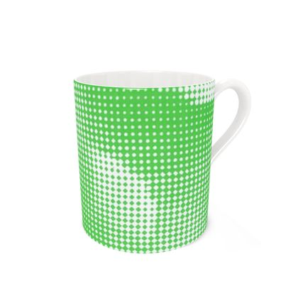Bone China Mug - Endleaves of Art. Taste. Beauty (1932) Green Remix