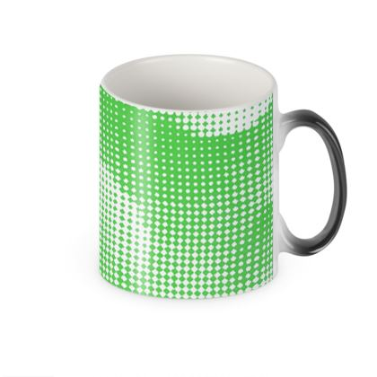Heat Changing Mug - Endleaves of Art. Taste. Beauty (1932) Green Remix