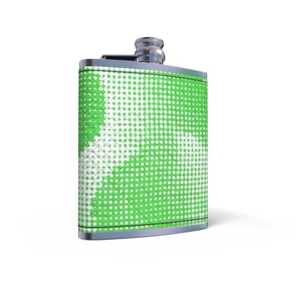 Leather Wrapped Hip Flask - Endleaves of Art. Taste. Beauty (1932) Green Remix