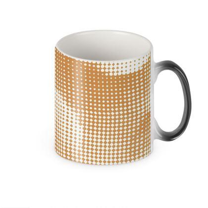 Heat Changing Mug - Endleaves of Art. Taste. Beauty (1932) Orange Remix