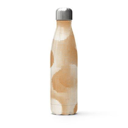 Stainless Steel Thermal Bottle - Endleaves of Art. Taste. Beauty (1932) Orange Remix
