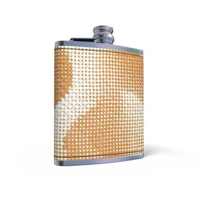 Leather Wrapped Hip Flask - Endleaves of Art. Taste. Beauty (1932) Orange Remix