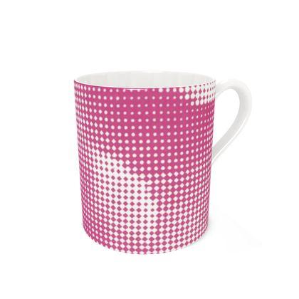 Bone China Mug - Endleaves of Art. Taste. Beauty (1932) Pink Remix