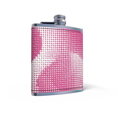 Leather Wrapped Hip Flask - Endleaves of Art. Taste. Beauty (1932) Pink Remix