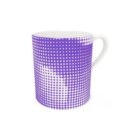 Bone China Mug - Endleaves of Art. Taste. Beauty (1932) Purple Remix