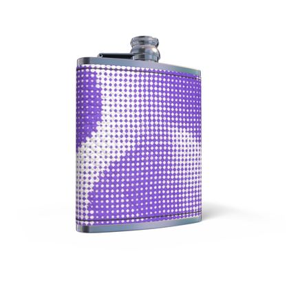 Leather Wrapped Hip Flask - Endleaves of Art. Taste. Beauty (1932) Purple Remix