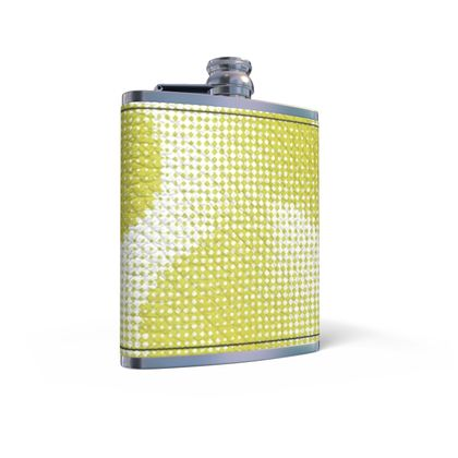 Leather Wrapped Hip Flask - Endleaves of Art. Taste. Beauty (1932) Yellow Remix