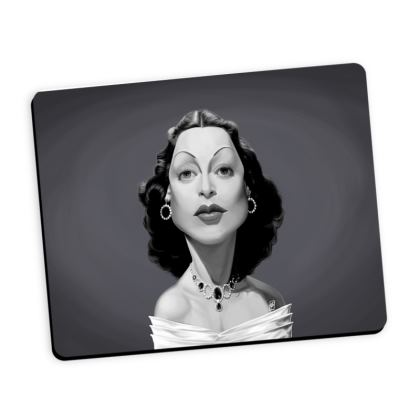 Hedy Lamarr Celebrity Caricature Mouse Mat
