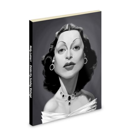 Hedy Lamarr Celebrity Caricature Pocket Note Book